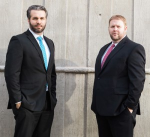 Attorneys Joshua Edwards and Brian Peterson